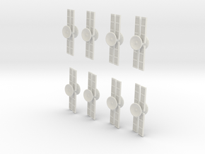 XCOM:TBG Satellite v2 Set of 8 in White Natural Versatile Plastic