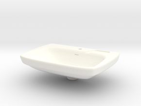 Miniature Bathroom Sink 1/12 in White Processed Versatile Plastic