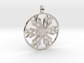 WIRE LEAF in Rhodium Plated