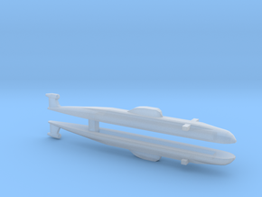 Victor Class SSN x 2, 1/2400 in Smooth Fine Detail Plastic