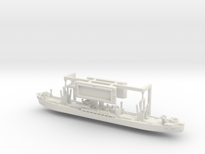 German WWII Hansa Type 9000 Freighter & Tug 1/1800 in White Natural Versatile Plastic