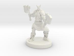 Orc Warrior Figurine in White Natural Versatile Plastic