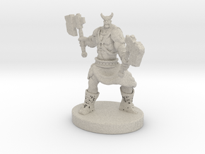 Orc Warrior Figurine in Natural Sandstone