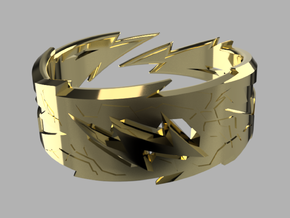 Power : Zeus Ring Size 7 in 18k Gold Plated Brass