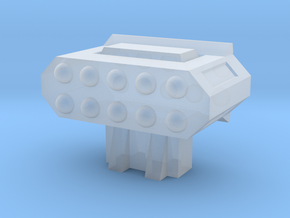 Missile Pod - Rectangular Horizontal in Smooth Fine Detail Plastic