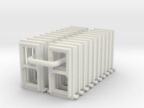 SS Small Sash Windows Type 1 X 20 - 4mm in White Natural Versatile Plastic