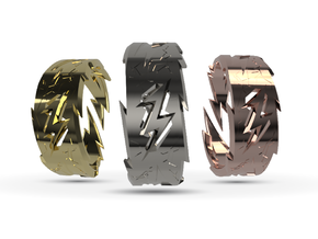 Power : Zeus Ring Size 12 in Fine Detail Polished Silver