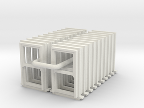 SS Large Narrow Sash Windows Type 1 - 4mm in White Natural Versatile Plastic