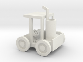 Small Golf Car in White Natural Versatile Plastic