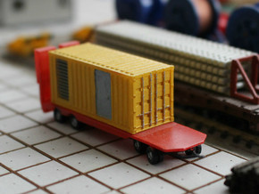 N Scale Generator In 20ft Container in Smooth Fine Detail Plastic