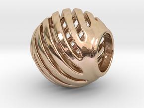 Pandora Charm Geo 1 in 14k Rose Gold Plated Brass