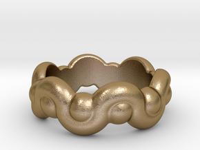 Strange Fantasy Ring 18 - Italian Size 18 in Polished Gold Steel