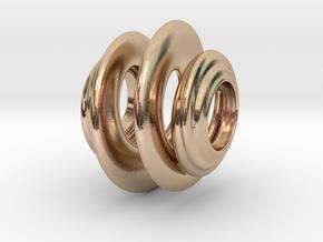 Organic Spiral for Pandora sized Bracelets in 14k Rose Gold Plated Brass