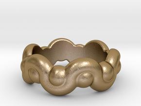 Strange Fantasy Ring 20 - Italian Size 20 in Polished Gold Steel