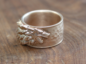 Game of Thrones House of Stark Ring Size 13 in Natural Bronze