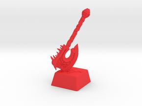 Gorehowl Cherry MX Short Keycap in Red Processed Versatile Plastic