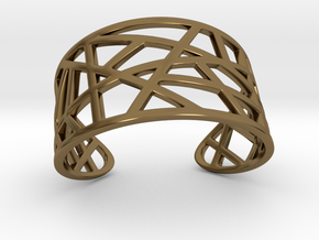 POLLY cuff bracelet  in Polished Bronze