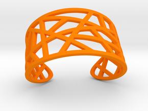 POLLY cuff bracelet  in Orange Processed Versatile Plastic