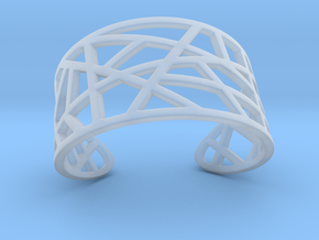 POLLY cuff bracelet  in Smooth Fine Detail Plastic
