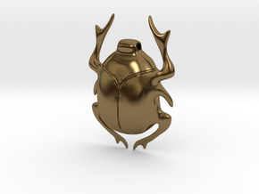 SCARAB pendant  in Polished Bronze