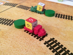 Trains (6 pcs) in Red Processed Versatile Plastic