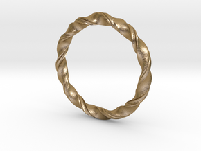 3D printed Bangle(Braclet) in Polished Gold Steel