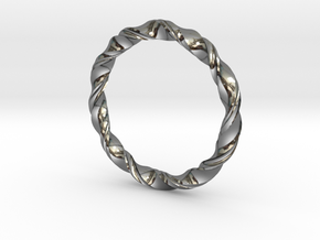 3D printed Bangle(Braclet) in Fine Detail Polished Silver