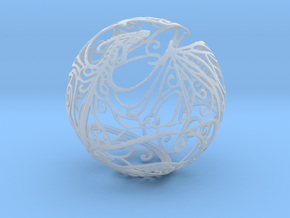 Dragon Sphere Ornament in Smooth Fine Detail Plastic