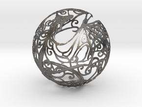 Dragon Sphere Ornament in Polished Nickel Steel