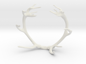 Red Deer Antler Bracelet 70mm in White Natural Versatile Plastic