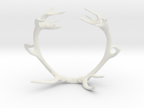 Red Deer Antler Bracelet 60mm in White Strong & Flexible