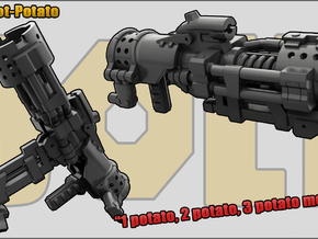 Hot Potato: Grenade launcher/Mortar in White Strong & Flexible