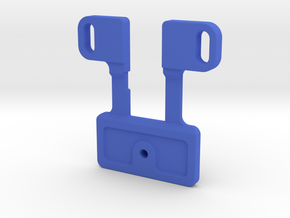 Whomobile Pinball Mod - Switch Mount in Blue Processed Versatile Plastic