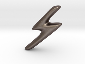 RUNE - S in Polished Bronzed Silver Steel