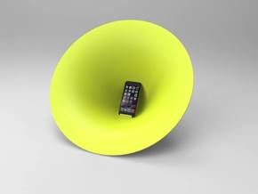 iphone speaker in White Strong & Flexible