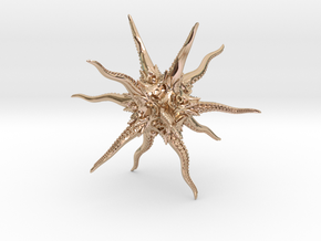Kraken / Eldritch D20 in 14k Rose Gold Plated Brass