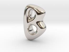RUNE- B in Rhodium Plated Brass