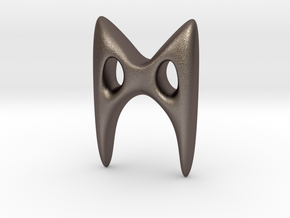 RUNE - M in Polished Bronzed Silver Steel