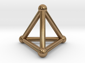 0277 Tetrahedron V&E (S&B) (a=10mm) in Natural Brass