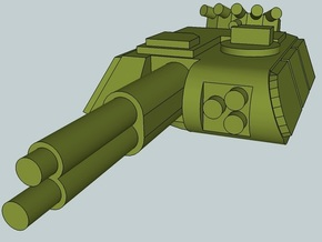 6mm Sci-Fi Heavy IFV Turret (12pcs) in Smooth Fine Detail Plastic