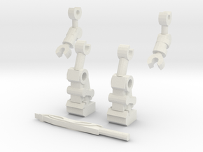 Mata Legs and Arms 2  in White Natural Versatile Plastic