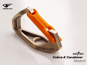 Cobra X Carabiner *Medium* DH004SW in Polished Bronzed Silver Steel