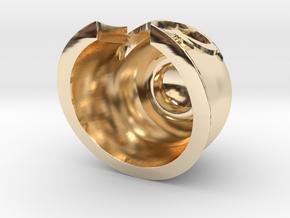 Magnet Helmet in 14K Yellow Gold