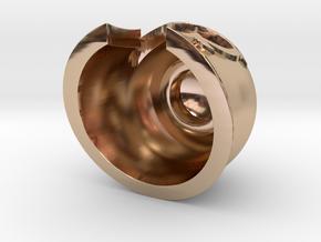 Magnet Helmet in 14k Rose Gold Plated Brass