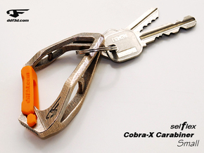 Cobra X Carabiner *Small* DH006SW in Polished Bronzed Silver Steel