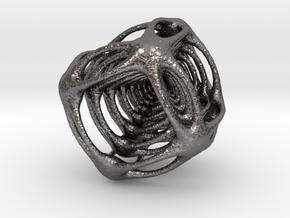 Alien Cube in Polished Nickel Steel