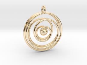 Good cosmic waves in 14k Gold Plated Brass: Medium