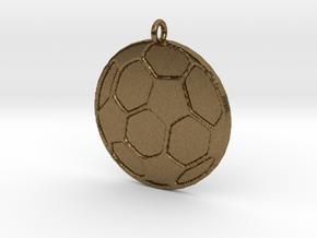 Soccerball in Raw Bronze