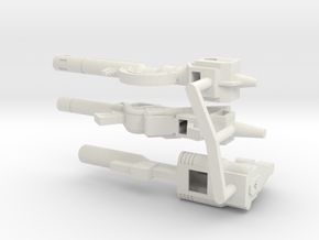 TW Dinobot Guns Set M in White Strong & Flexible