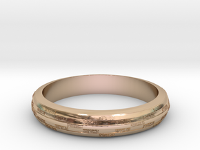 Ring Hilly special in 14k Rose Gold Plated Brass
